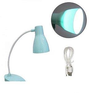 Luminária de Mesa Flexível Recarregável Ciano - ALFACELL