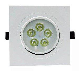 Spot LED Quadrado 5W 3000k - CTB