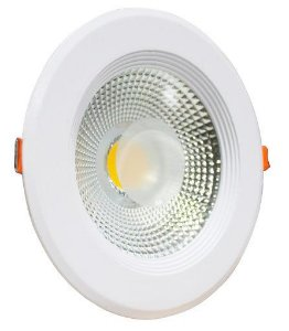 Spot LED COB 7w Redondo Embutir 3000k - MAXTEL