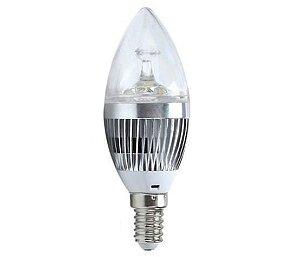 Lâmpada vela LED 3W E14 6500k - CTB