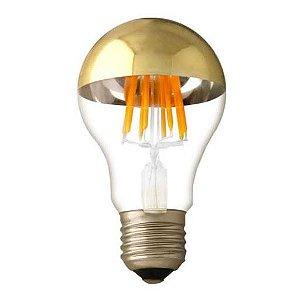 Lampada de Filamento LED A19 Defletora 6W - Dourada