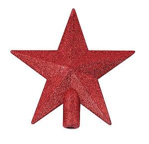 Ponteira Estrela 14x13cm Vermelha