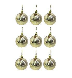 Bola de Natal Dourada N.3 9 pçs