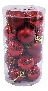 Bolas de Natal Pacote com 32 Vermelha