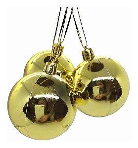 Bola de Natal Dourada N.6 C/3 pçs
