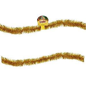 Festão Corte Fino Dourado 2m