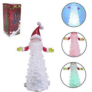 Árvore de Natal Acrílico Papai Noel 13x5,5cm