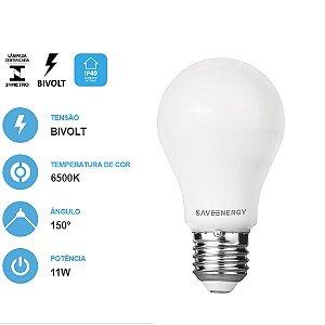 Lâmpada LED Bulbo A60 11W  6500K - Save Energy