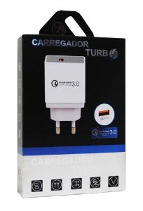 Carregador Turbo Charger USB - Qualcomm 3.0