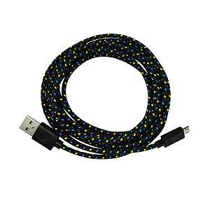 Cabo USB Para Celular Micro USB V8 - Com Malha - Win-Ty