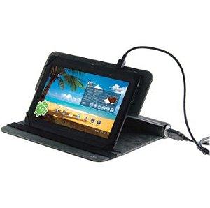"""Capa para Tablet 7"""" com Bateria de Emergência - Leadership"""