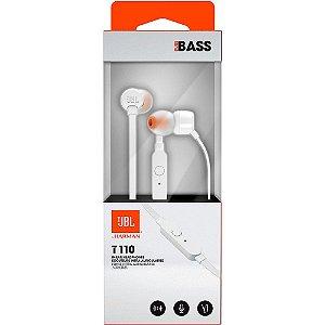 Fone De Ouvido In Ear - JBL T110 - Branco