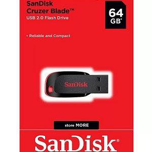 Pen Drive Sandisk Cruzer Blade Z50 - 64GB