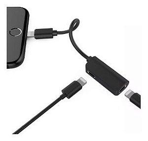 Adaptador Fone e Carregador Para Iphone - Kaidi