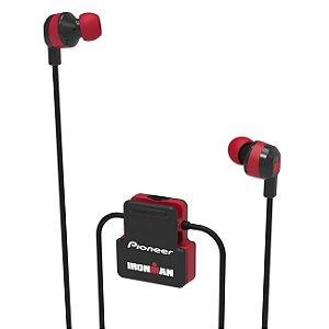 Fone de Ouvido Bluetooth Pioneer Ironman - SE-IM5BT-H - Preto e Vermelho