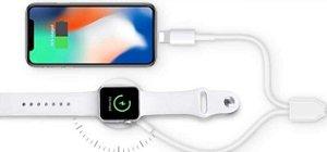 Carregador Sem Fio Para Apple Watch e Cabo Para Carregamento Iphone