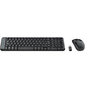 Teclado e Mouse Wireless - MK220 - Logitech