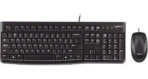 Teclado e Mouse Com Fio USB - MK120 - Logitech