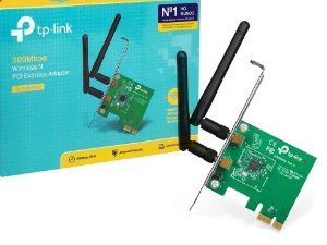 Placa Adaptador PCI Express WiFi 300Mbps - TP-Link TL-WN881ND