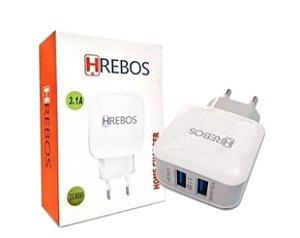 Carregador Home Charger 2 USB - Hrebos HP-01