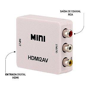 Conversor HDMI Para AVI - Vídeo Composto 3 RCA AV