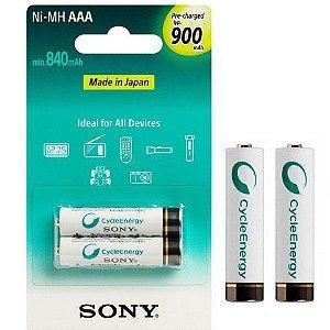 Pilha Recarregável Sony C/ 2 AAA 900MAH