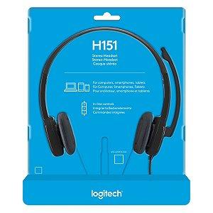 Fone Com Microfone Headset Logitech - H151