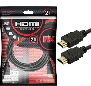 Cabo HDMI para HDMI - 2M - PIX