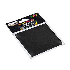 Bloco de Anotações Preto Quadrado Tom Pastel - 50 folhas - BA7653
