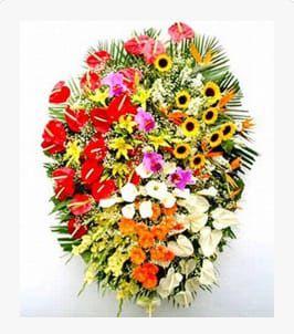 Coroa de Flores BR-13 Mega Luxo Extra Grande