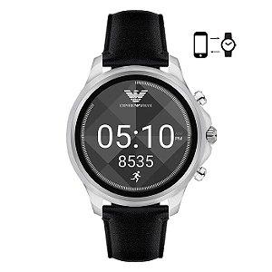 Smartwatch Emporio Armani Masculino Prata