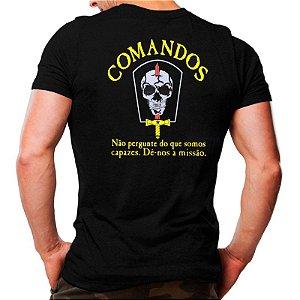 Camiseta Militar - Estampada - Comandos