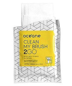 Clean My Brush 2 GO - Lenço para Limpeza de Pincéis 6UN