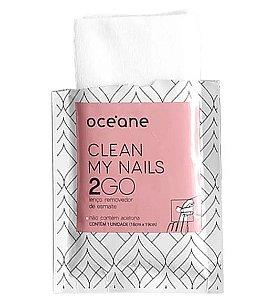 Clean My Nails 2 GO - Lenço Removedor de Esmalte 6UN