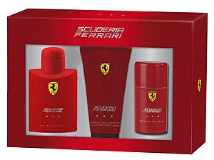 Coffret Scuderia Ferrari Red Ferrari EDT 125ml + Gel de Banho 150ml + Desodorante 75ml
