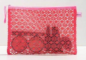 Lace Bag Pink - Nécessaire