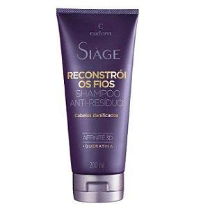 Shampoo Anti Resíduo reconstrói Fios 200ml
