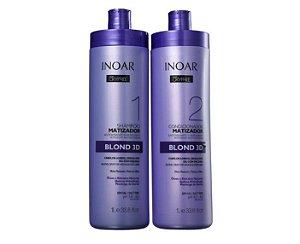 Kit Oxyfree Blond 3D Salon - Shampoo 1L e Condicionador 1L