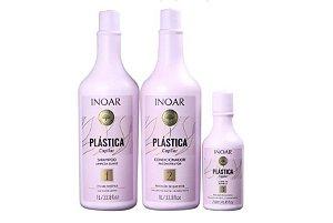 Kit Plástica Capilar - Shampoo 1L, Condicionador 1L e Leave In 250ml