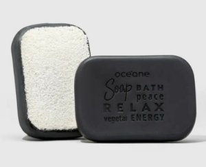 Charcoal Soap Sponge - Sabonete Vegetal de Carvão com Esponja 120g