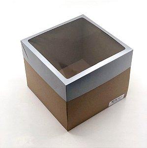 Caixa mista com visor MVB25 (25x25x20 cm) - embalagem com 10