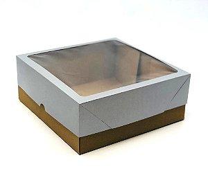 Caixa mista com visor MVT25 (25x25x10 cm) - embalagem com 10
