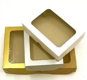Caixa com visor V0 (15x11x3,5 cm) - embalagem com 20