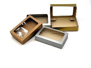 Caixa com visor V1 (19x12x4 cm) - embalagem com 20