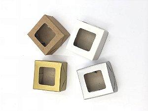 Caixa com visor VC4 (4x4x2 cm) - embalagem com 20