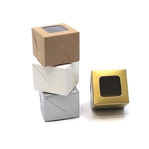 Caixa com visor VC5 (5x5x4 cm) - embalagem com 20