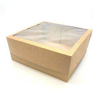 Caixa mista com visor MVT25 (25x25x10 cm) - embalagem com 20