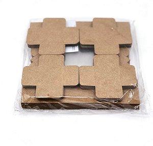 Kit de caixa com visor e forminha para 4 doces/brigadeiros/bombons/salgados (7x7x4 cm) - embalagem com 20