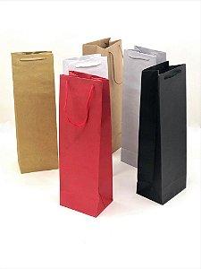 Sacola com alça de cordão BIG GARRAFA (40x13x10 cm) - embalagem com 10