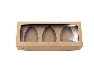 Kit caixa VR4 (27x11x5 cm)  para Ovo de Páscoa de colher + berço 3x100g - Embalagem com 20